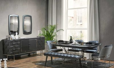 Jaguar siyah yemek odası