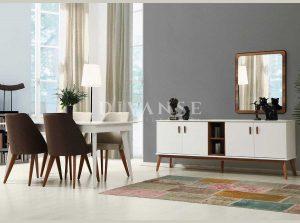 oslo beyaz yemek odası