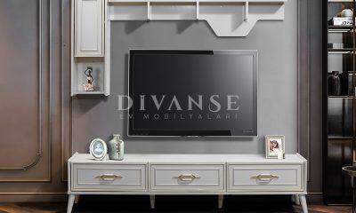 safir beyaz tv ünitesi