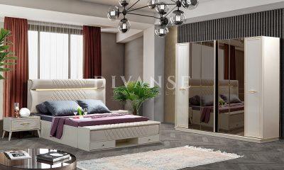 safir beyaz yatak odası