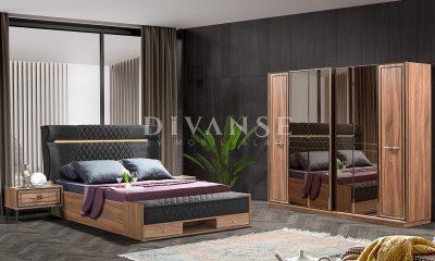 safir ceviz yatak odası